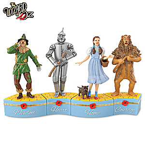 """We're Off To See The Wizard"" Porcelain Music Box Collection"