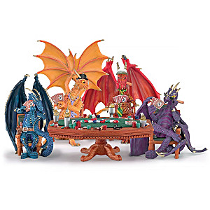 "Poker Dragons ""Hold 'Em Or Fold 'Em"" Figurine Collection"