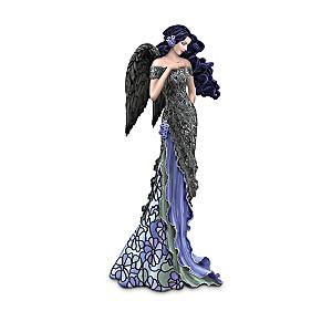 Louis Comfort Tiffany-Style Moonlit Garden Angel Figurines
