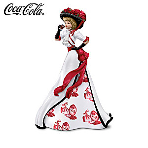 Refreshing Beauty of Coca-Cola Elegant Lady Figurines