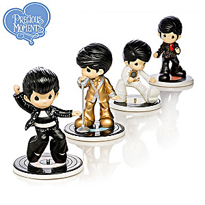 Precious Moments Elvis Rockin' Hit Songs Figurines