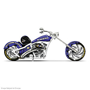 Baltimore Ravens Choppers With Team Logos And Graphics