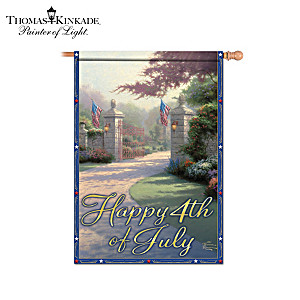 "Thomas Kinkade ""Gateways Of Light"" Holiday Flag Collection"