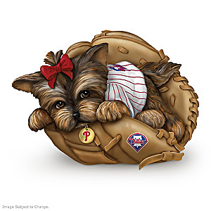 Philadelphia Phillies Sculptural Yorkie Figurine Collection
