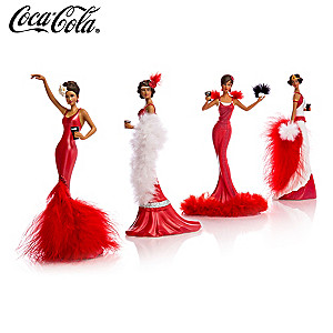 COCA-COLA Figurines In Jazz-Era Fashions