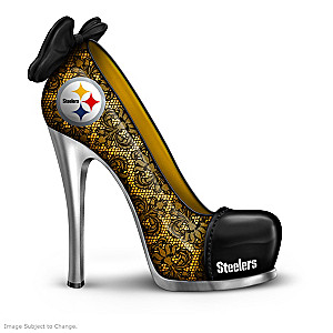 NFL-Licensed Pittsburgh Steelers High Heel Shoe Figurines
