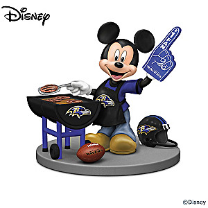 Baltimore Ravens Fan Disney Characters Figurine Collection