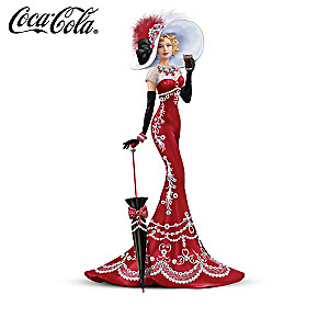 COCA-COLA Victorian Lady Figurines With Swarovski Crystals