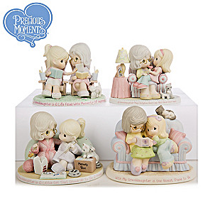 "Precious Moments ""With My Granddaughter"" Porcelain Figurines"