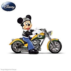 NFL Packers Mickey Mouse Motorcycle Figurine Collection