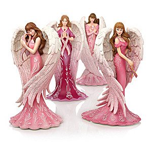 Brooke Gillette Breast Cancer Support Angel Figurines