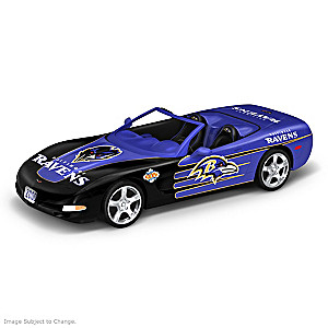 Baltimore Ravens 1:43-Scale Muscle Car Sculpture Collection