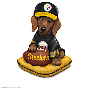 """Ruff And Tough"" Pittsburgh Steelers Dog Figurines"