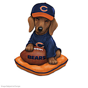 """Ruff And Tough"" Chicago Bears Dog Figurines"