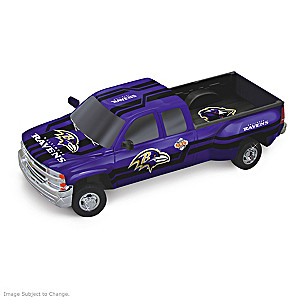 Ravens History-Making Chevy Pick-Up Sculptures
