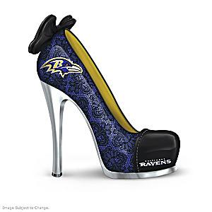 NFL-Licensed Baltimore Ravens High Heel Shoe Figurines