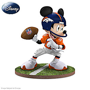 Denver Broncos Disney Mickey Mouse And Friends Figurines