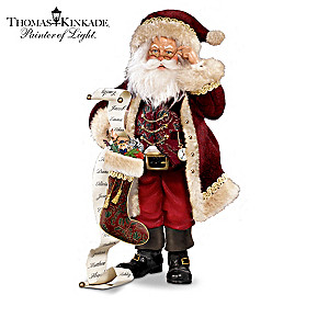 "Thomas Kinkade ""So Real Santas"" Figurine Collection"