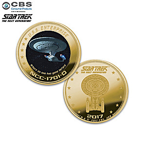 Star Trek The Next Generation 24k Gold Plated Proof Coin