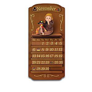 Perpetual Calendar Featuring 12 Sherry Rawn Baby Dolls