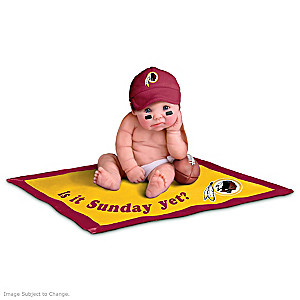 NFL Licensed Washington Redskins #1 Fan Baby Doll Collection