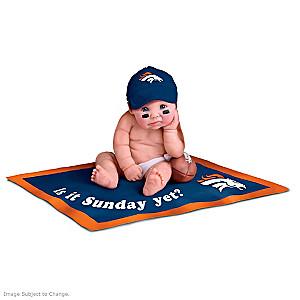NFL Licensed Denver Broncos Fan Baby Doll Collection