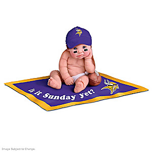 NFL Licensed Minnesota Vikings #1 Fan Baby Doll Collection