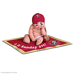 NFL Licensed San Francisco 49ers #1 Fan Baby Doll Collection