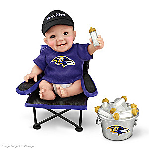 "Baltimore Ravens ""Tailgatin' Tots"" Fan Doll Collection"
