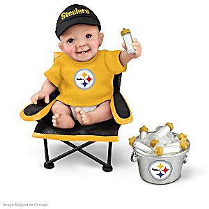 """Pittsburgh Steelers """"Tailgatin' Tots"""" Fan Doll Collection"""