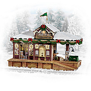 Christmas Train Station Village Accessory Collection