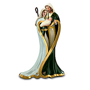 """Emerald Elegance"" Irish Nativity Figurine Collection"