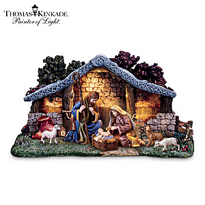 Thomas Kinkade Nativity Collection With Super Starter Set