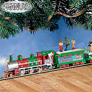 "HO-Scale ""PEANUTS"" Illuminated Electric Christmas Train"