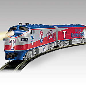 Texas Rangers Express Illuminated Electric Train