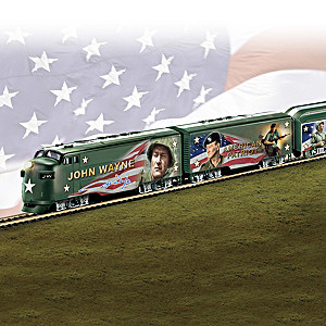 """HO-Scale """"American Patriot"""" Illuminated John Wayne Train"""