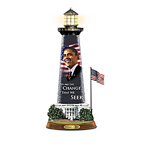 "Barack Obama ""Message Of Hope"" Lighthouse Sculptures"