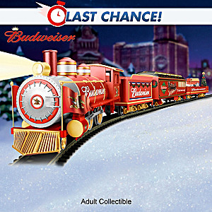 """Budweiser Holiday Express"" Illuminating Electric Train"