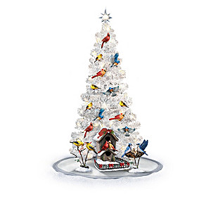 Chirping Motion-Activated Lighted Songbird Christmas Tree