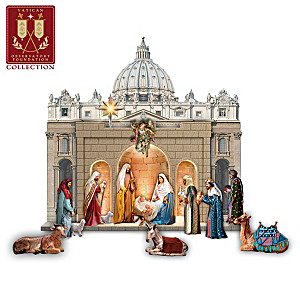 St. Peter's Square Illuminated Sculpted Nativity Collection