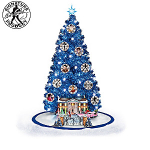 Elvis Presley Illuminated Musical Christmas Tree Collection