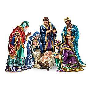 """The Jeweled Nativity"" Peter Carl Faberge-Inspired Figurines"