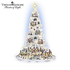 Thomas Kinkade Village Christmas Illuminated Tree Collection