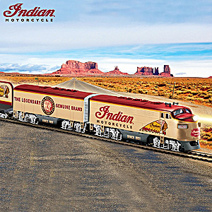 "HO-Scale ""Indian Motorcycle Express"" Train Collection"