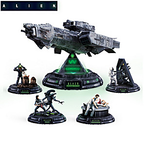 ALIEN Sculpture Collection With Illuminated Nostromo Centerpiece