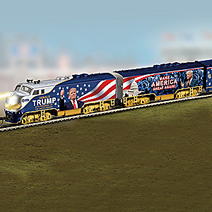 """""""President Donald Trump Express"""" Electric Train Collection"""